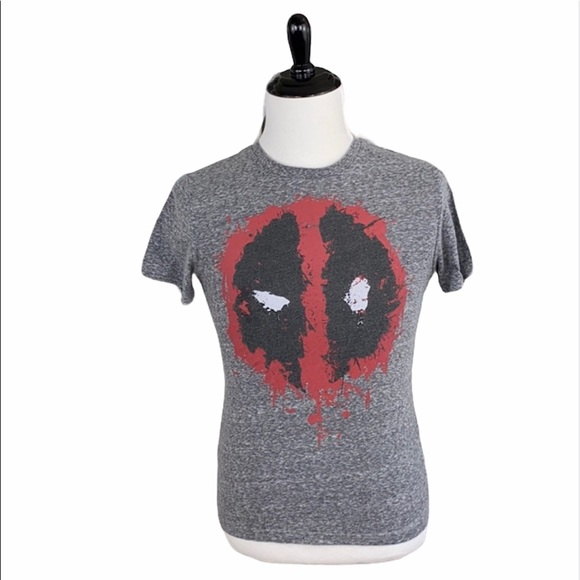 Marvel Deadpool Gray Short Sleeve Graphic Tee